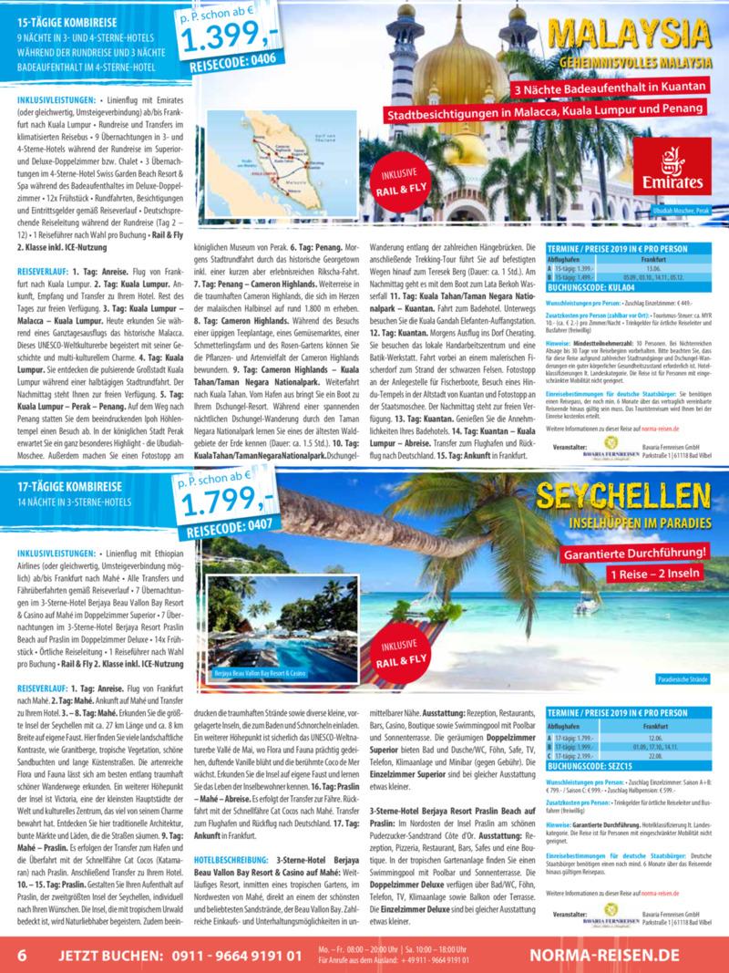 Norma-Reisen Prospekt vom 01.04.2019, Seite 5