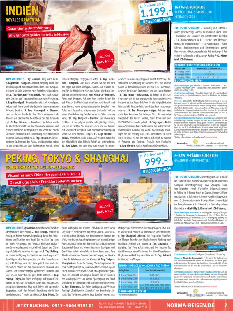 Norma-Reisen Prospekt vom 01.04.2019, Seite 6
