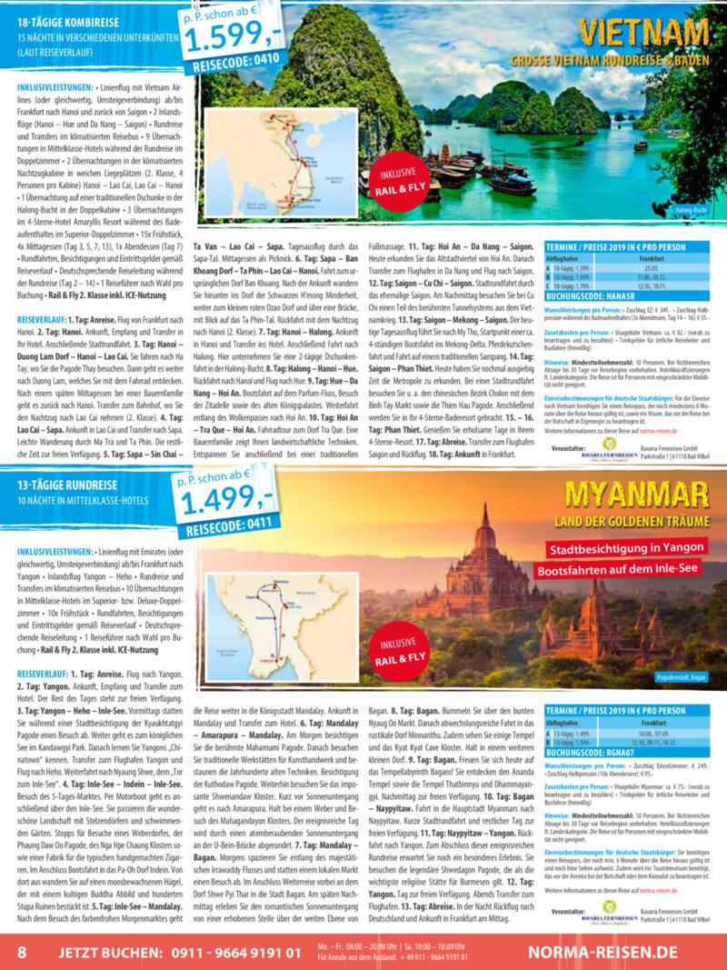 Norma-Reisen Prospekt vom 01.04.2019, Seite 7