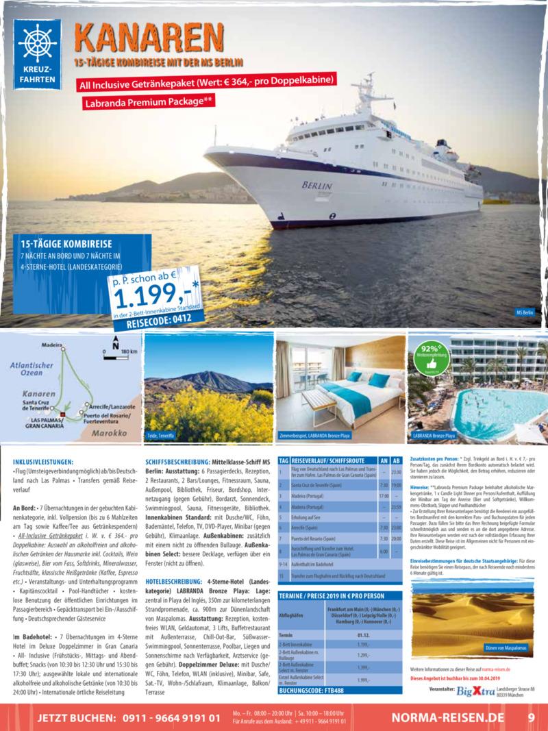 Norma-Reisen Prospekt vom 01.04.2019, Seite 8