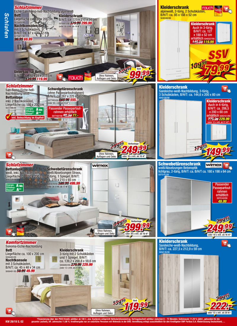 POCO Einrichtungsmarkt Prospekt vom 13.07.2019, Seite 1