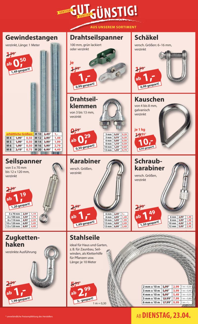 Sonderpreis Baumarkt Prospekt vom 23.04.2019, Seite 16