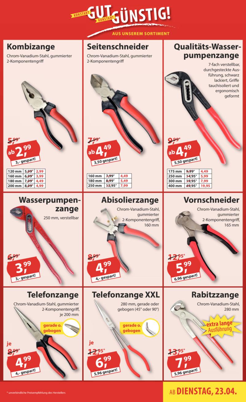 Sonderpreis Baumarkt Prospekt vom 23.04.2019, Seite 18