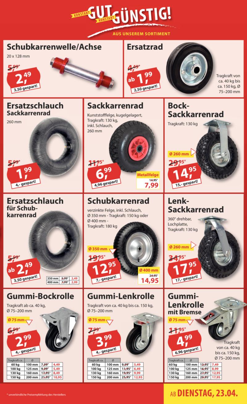 Sonderpreis Baumarkt Prospekt vom 23.04.2019, Seite 20