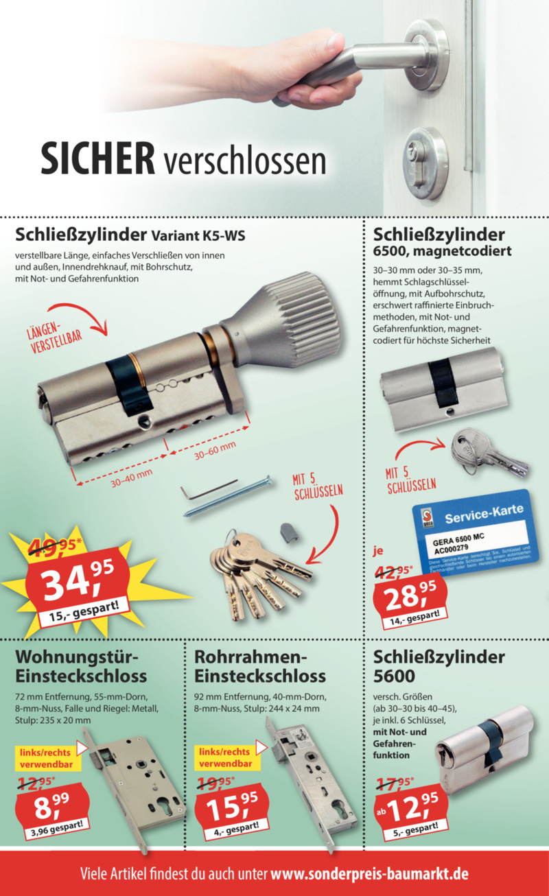 Sonderpreis Baumarkt Prospekt vom 15.07.2019, Seite 9