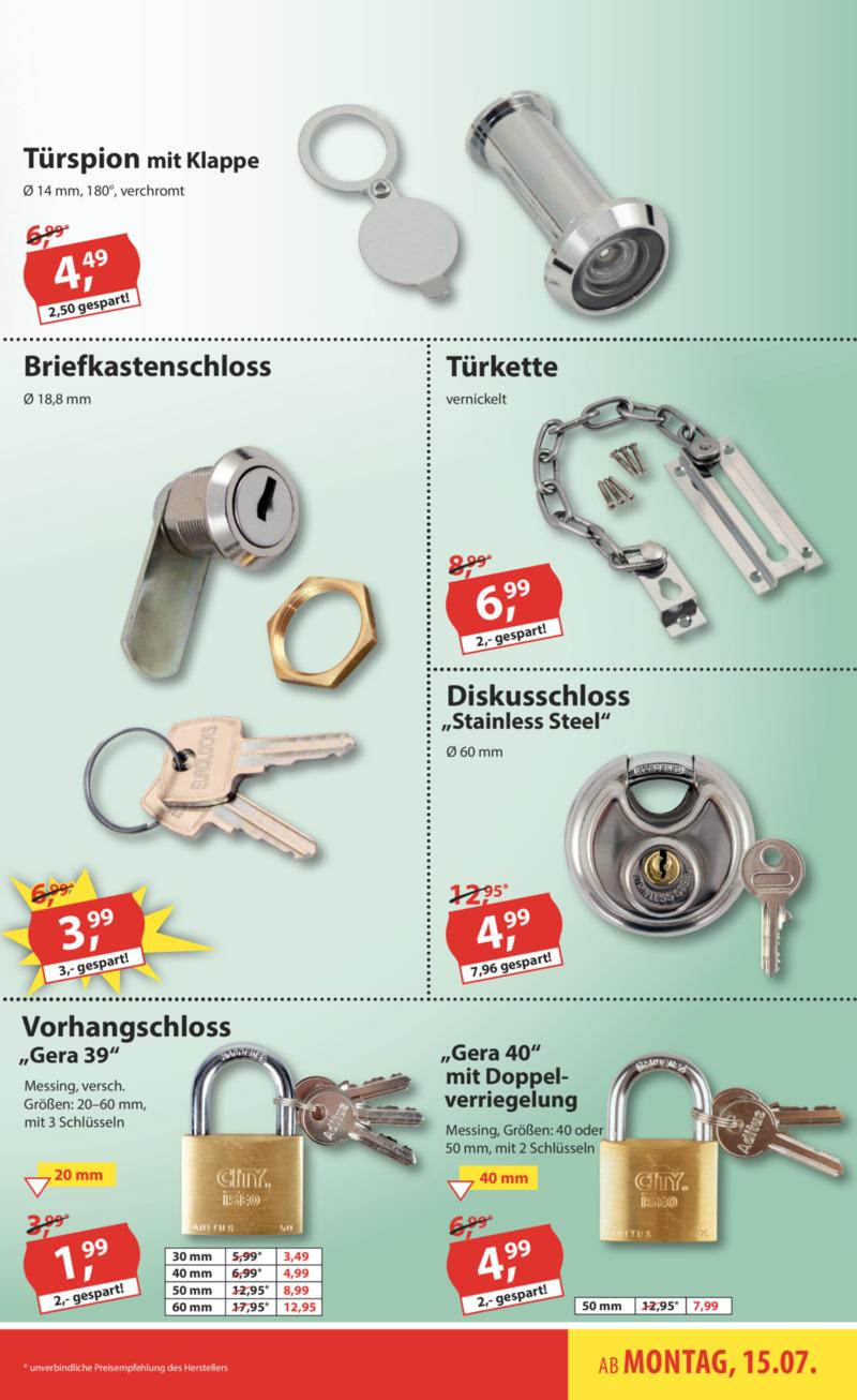 Sonderpreis Baumarkt Prospekt vom 15.07.2019, Seite 10