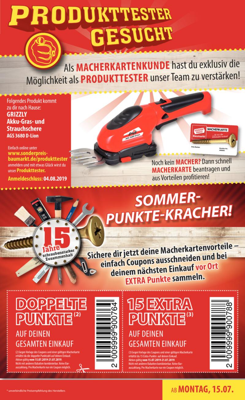 Sonderpreis Baumarkt Prospekt vom 15.07.2019, Seite 14