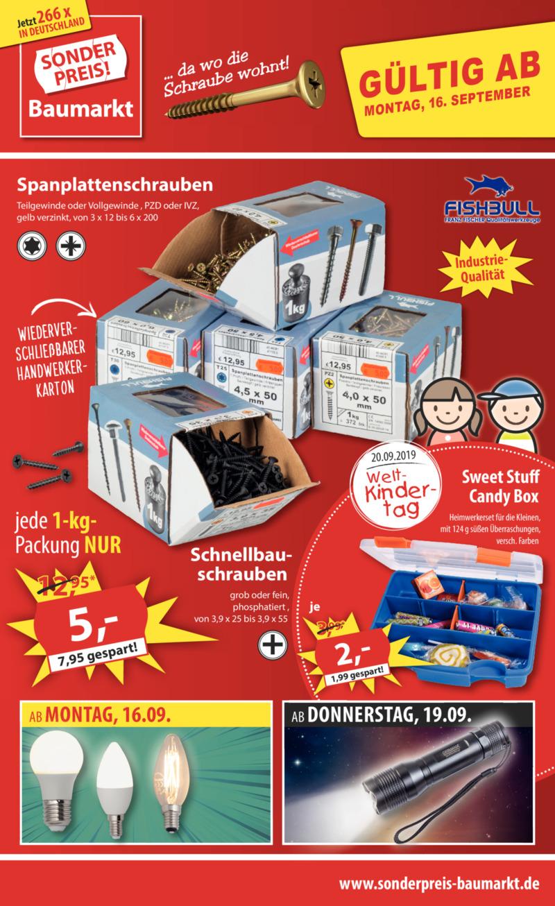 Sonderpreis Baumarkt Prospekt vom 16.09.2019, Seite