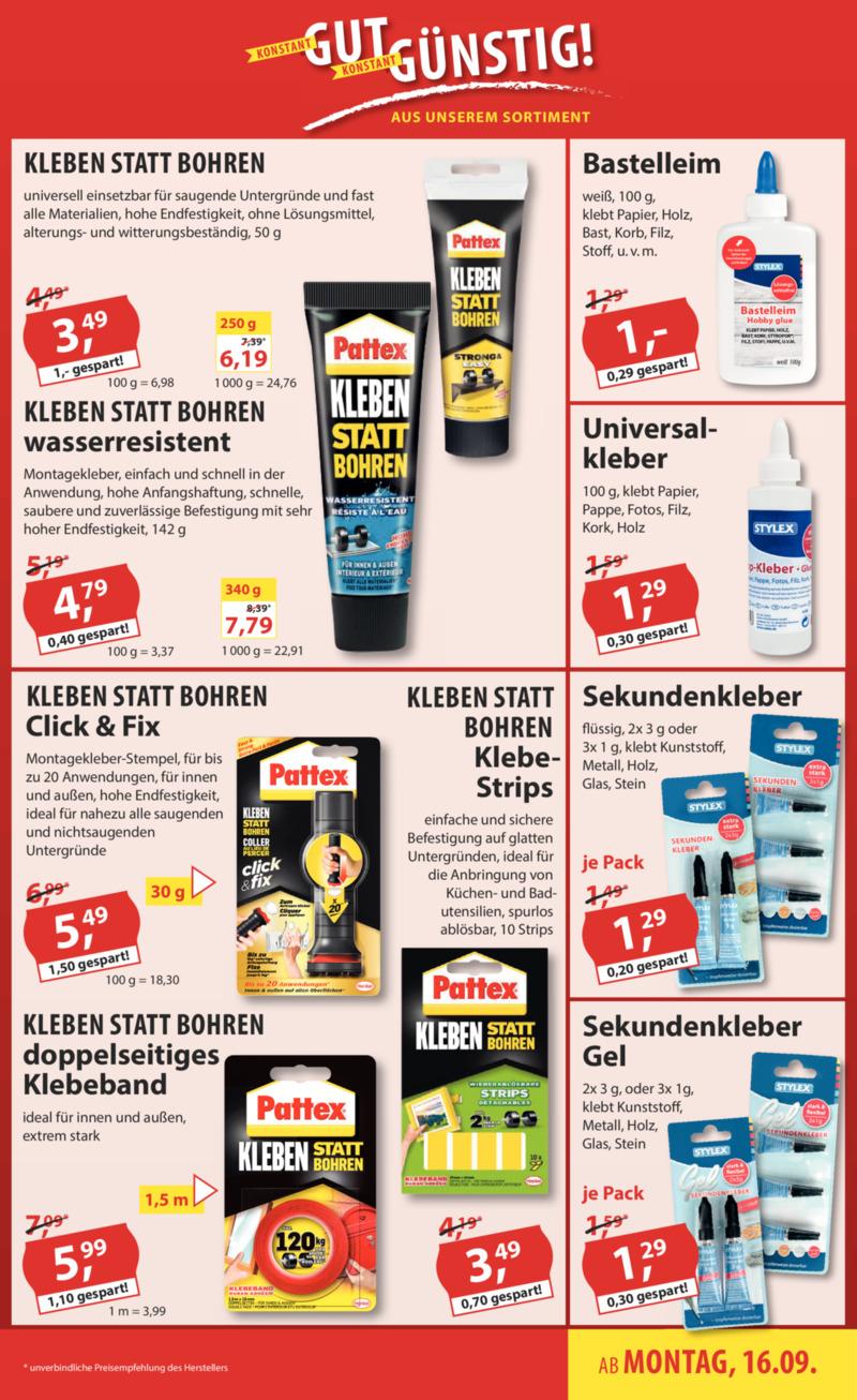 Sonderpreis Baumarkt Prospekt vom 16.09.2019, Seite 14