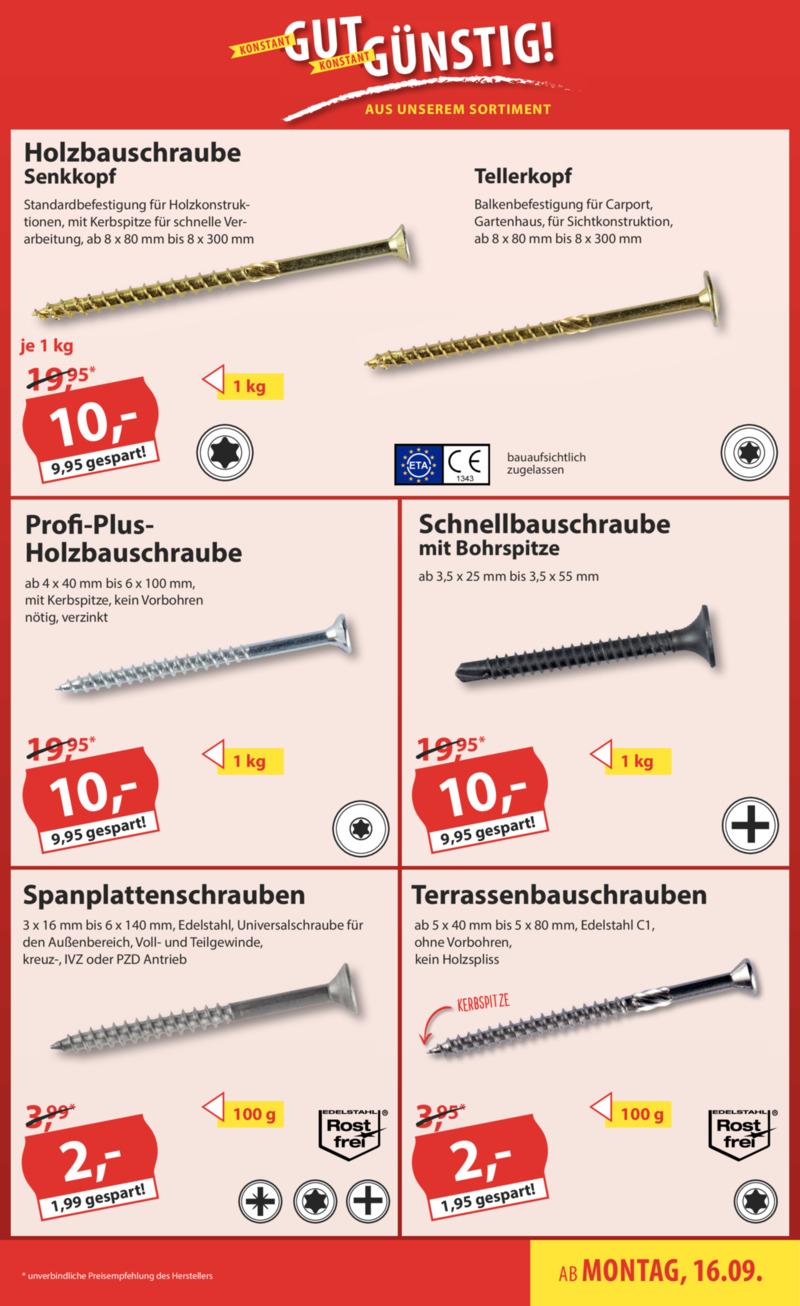 Sonderpreis Baumarkt Prospekt vom 16.09.2019, Seite 16