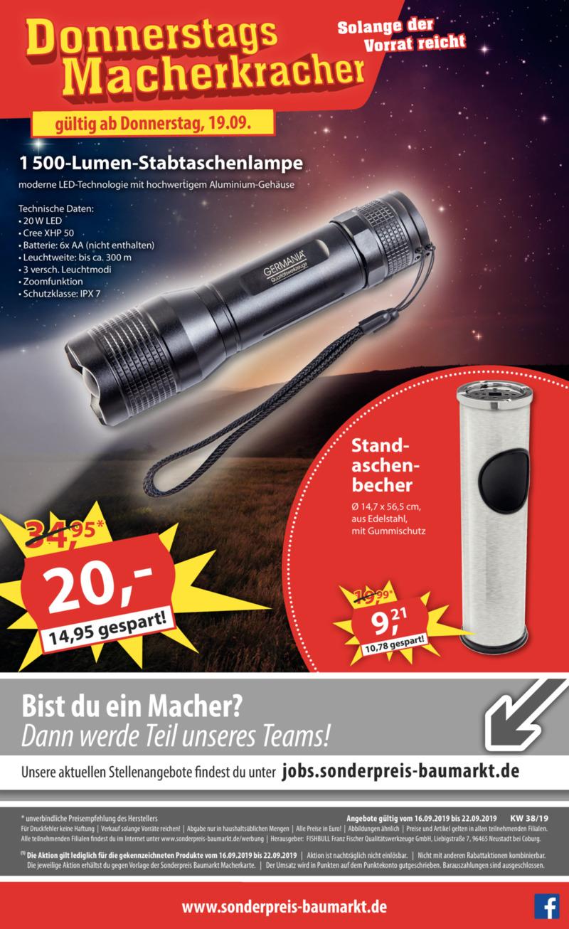 Sonderpreis Baumarkt Prospekt vom 16.09.2019, Seite 17