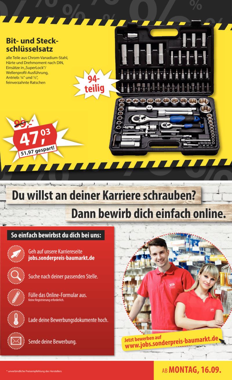 Sonderpreis Baumarkt Prospekt vom 16.09.2019, Seite 2