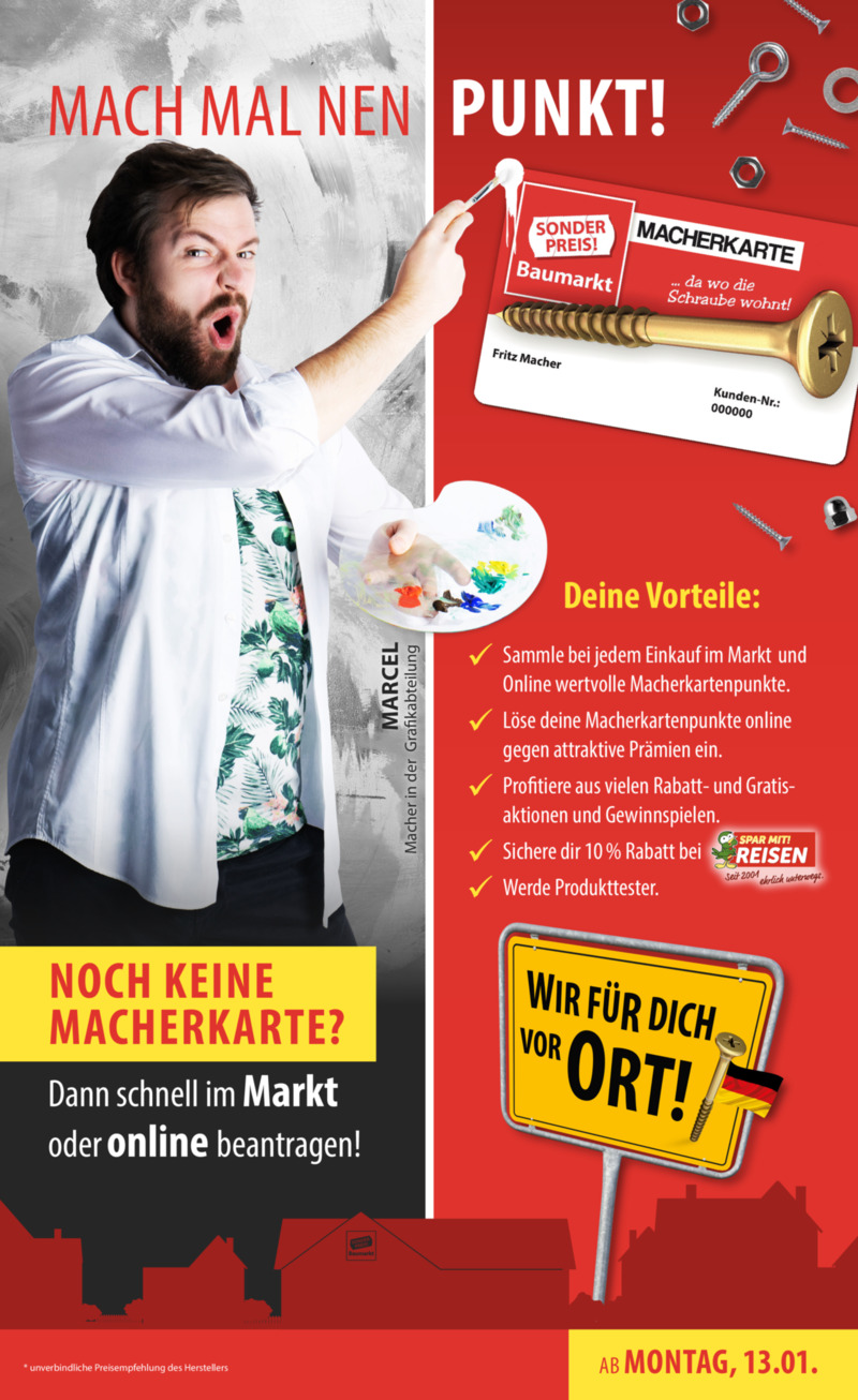 Sonderpreis Baumarkt Prospekt vom 13.01.2020, Seite 10