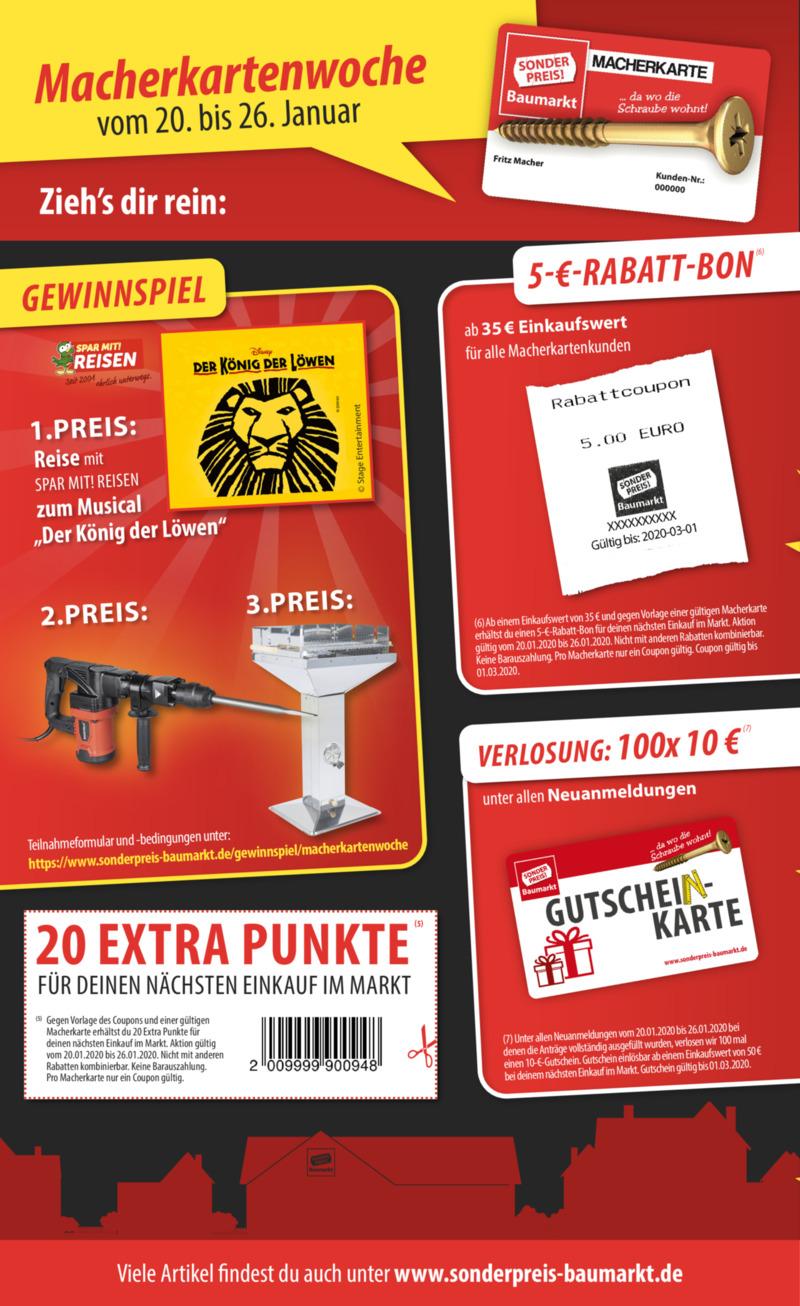 Sonderpreis Baumarkt Prospekt vom 13.01.2020, Seite 11