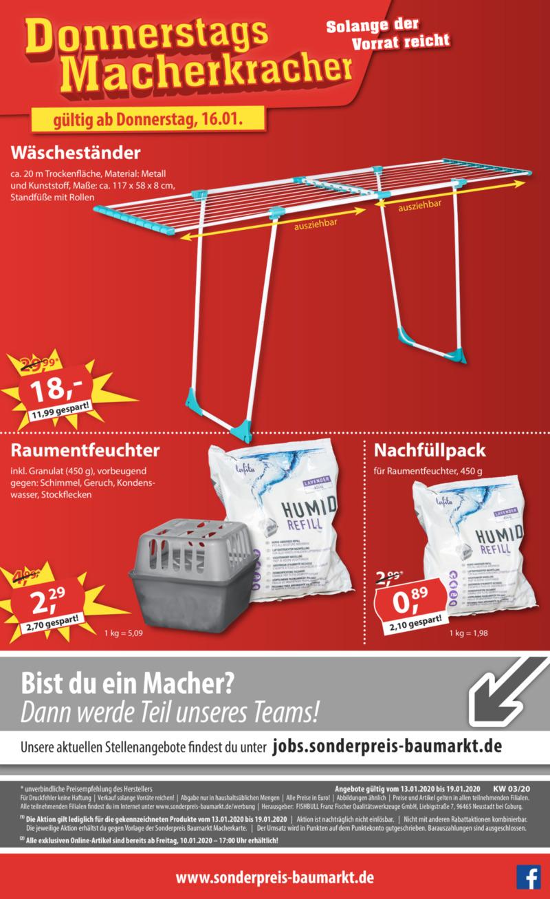 Sonderpreis Baumarkt Prospekt vom 13.01.2020, Seite 17