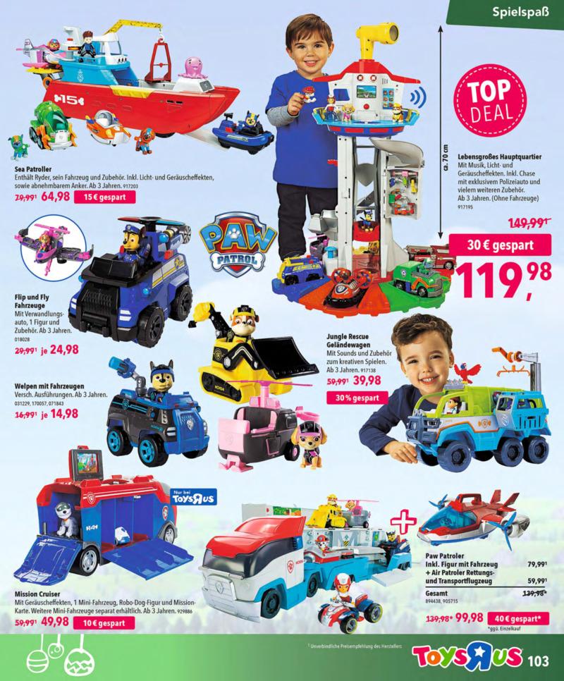 Toys'R'Us Prospekt vom 13.10.2018, Seite 102