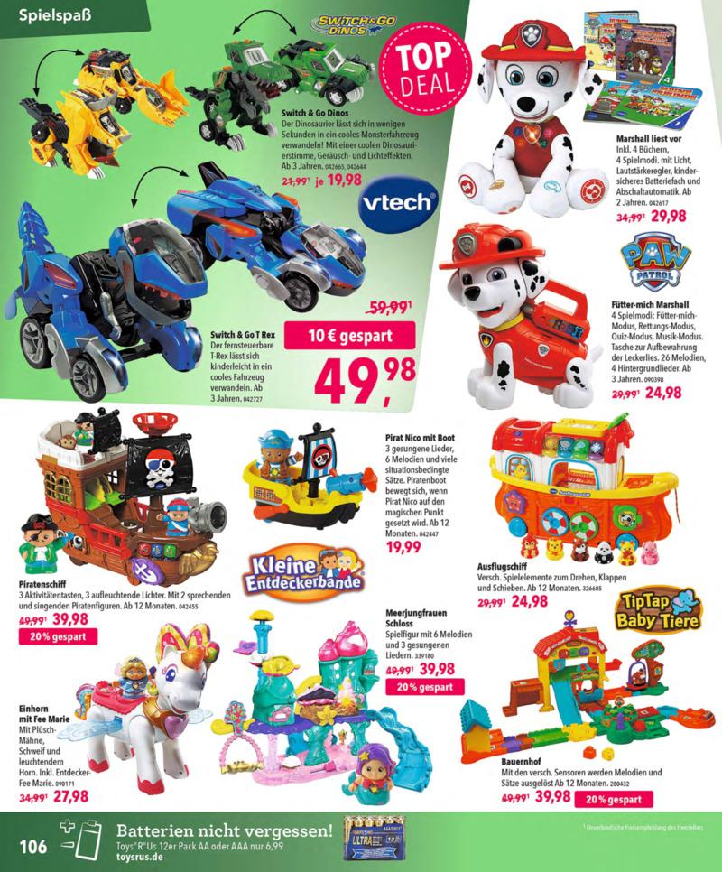 Toys'R'Us Prospekt vom 13.10.2018, Seite 105