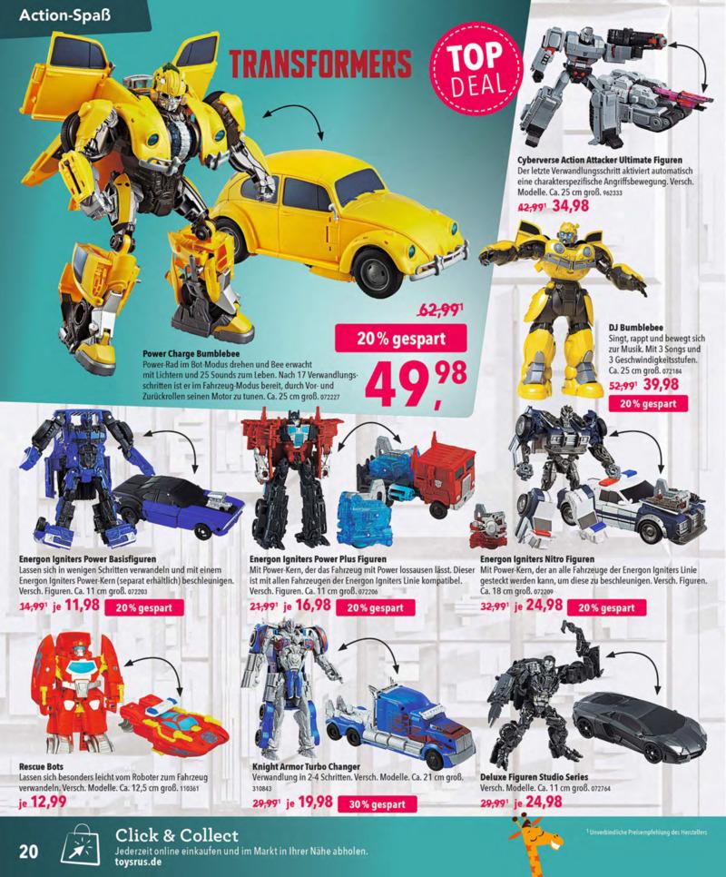 Toys'R'Us Prospekt vom 13.10.2018, Seite 19
