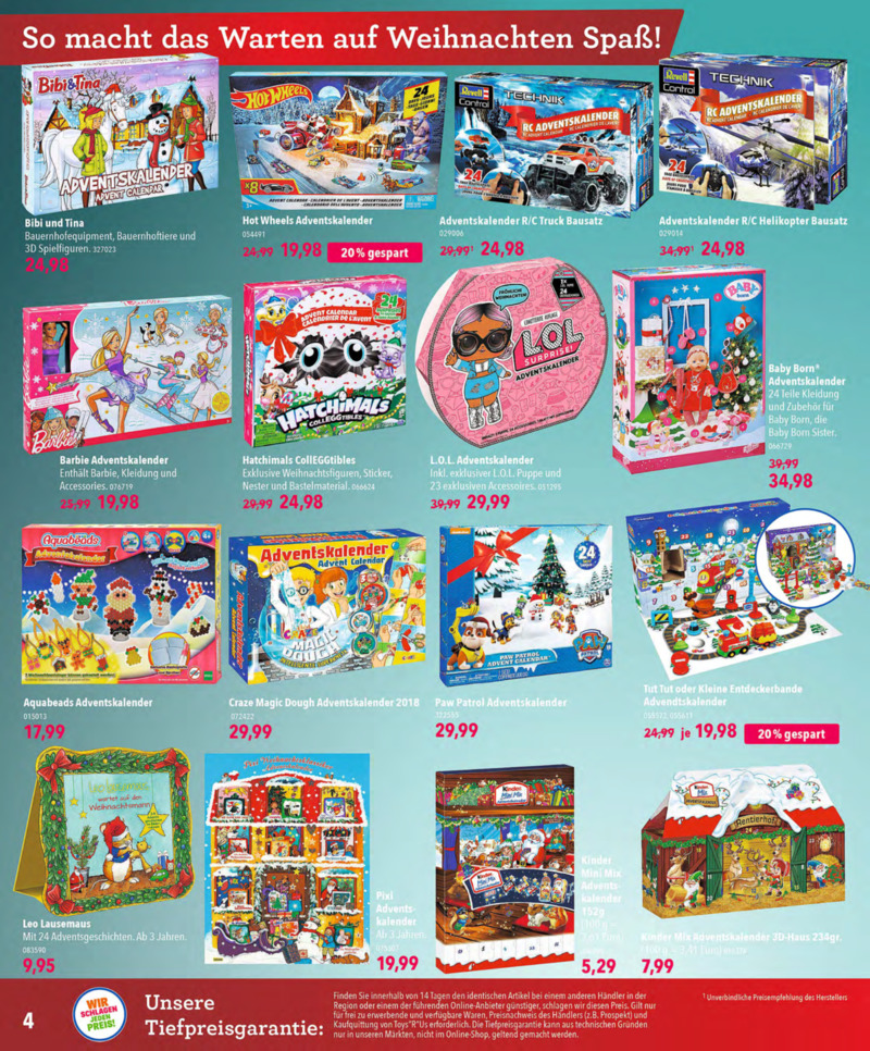Toys'R'Us Prospekt vom 13.10.2018, Seite 3