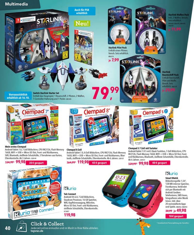 Toys'R'Us Prospekt vom 13.10.2018, Seite 39