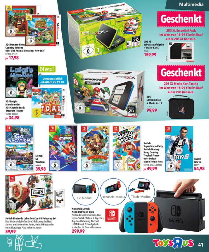 Toys'R'Us Prospekt vom 13.10.2018, Seite 40