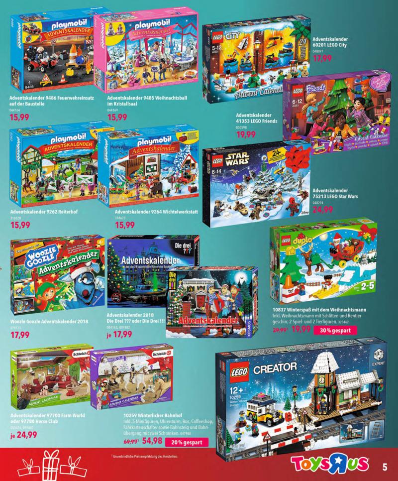 Toys'R'Us Prospekt vom 13.10.2018, Seite 4