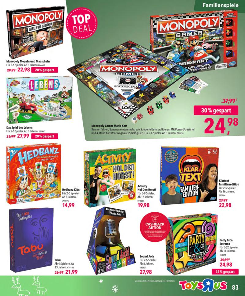 Toys'R'Us Prospekt vom 13.10.2018, Seite 82