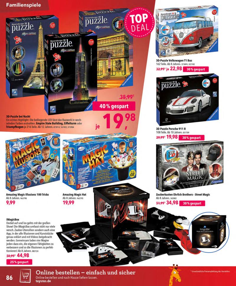 Toys'R'Us Prospekt vom 13.10.2018, Seite 85