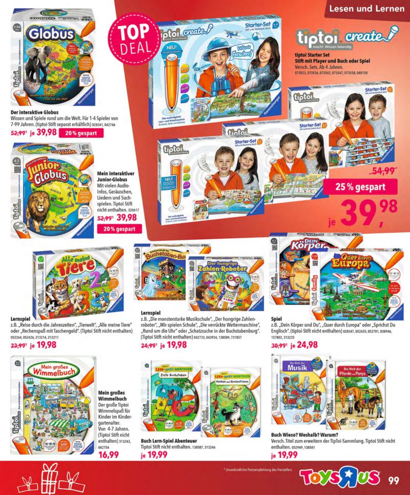 Toys'R'Us Prospekt vom 13.10.2018, Seite 98