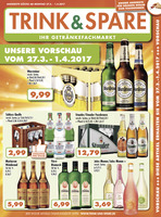 Trink & Spare Prospekt vom 27.03.2017