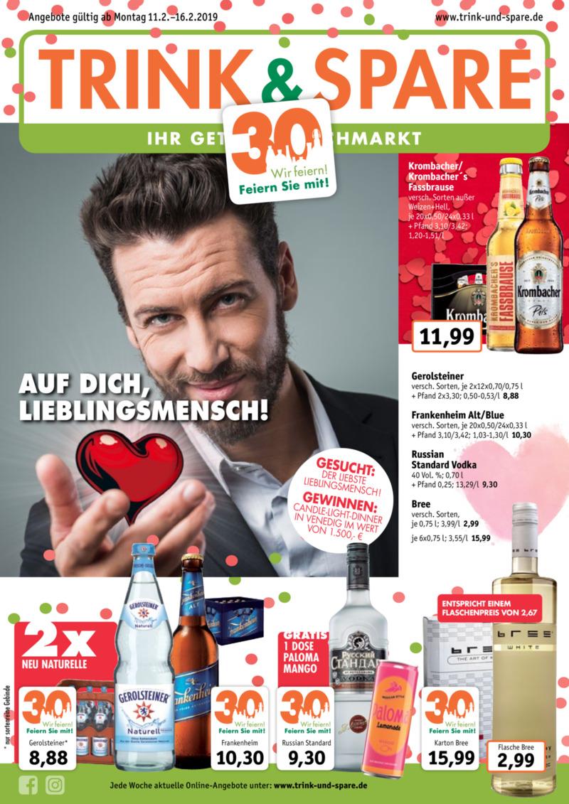 Trink & Spare Prospekt vom 11.02.2019, Seite