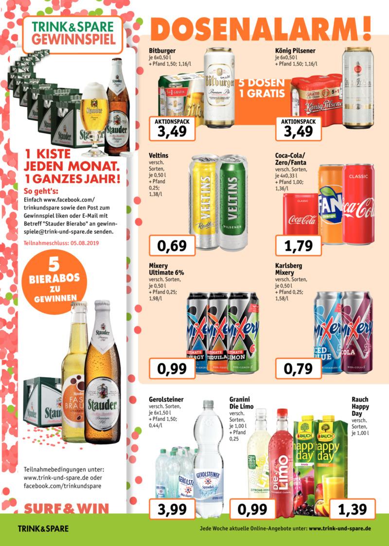 Trink & Spare Prospekt vom 15.07.2019, Seite 1