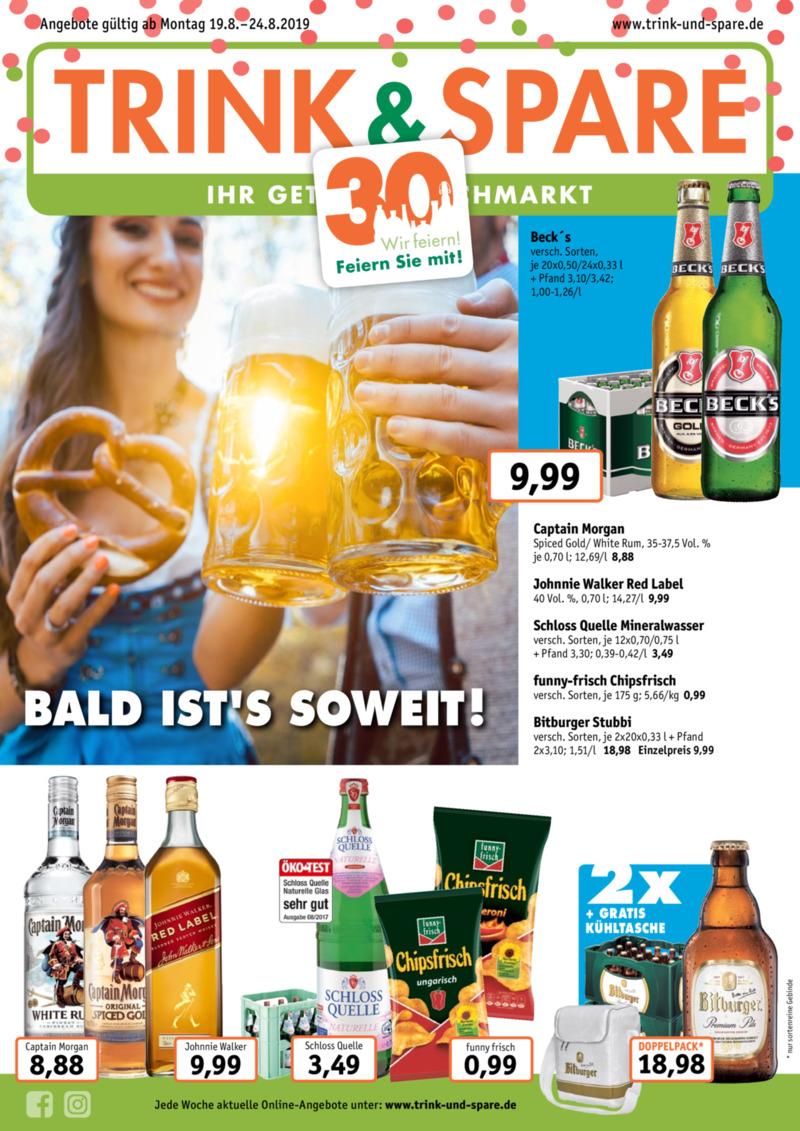 Trink & Spare Prospekt vom 19.08.2019, Seite