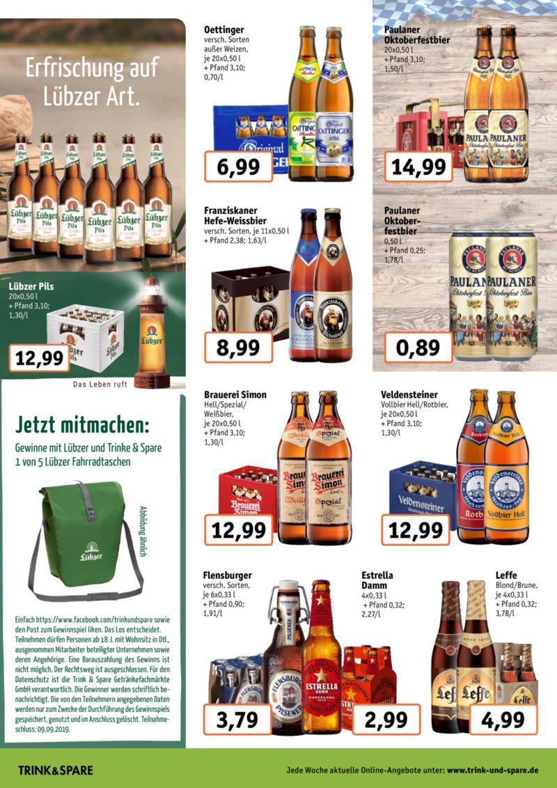 Trink & Spare Prospekt vom 19.08.2019, Seite 1
