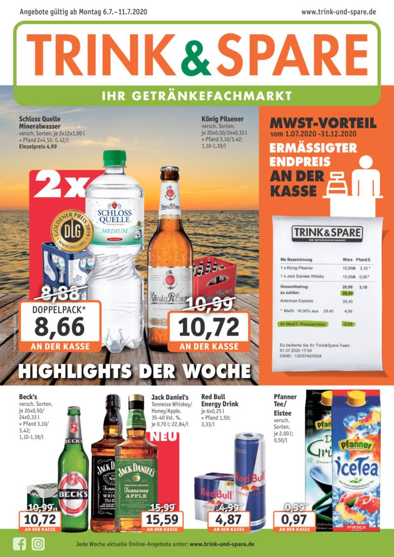 Trink & Spare Prospekt vom 06.07.2020, Seite