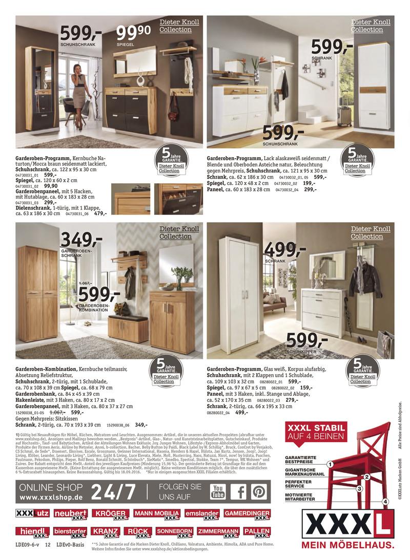 xxxl prospekt vom bis bl ttern. Black Bedroom Furniture Sets. Home Design Ideas