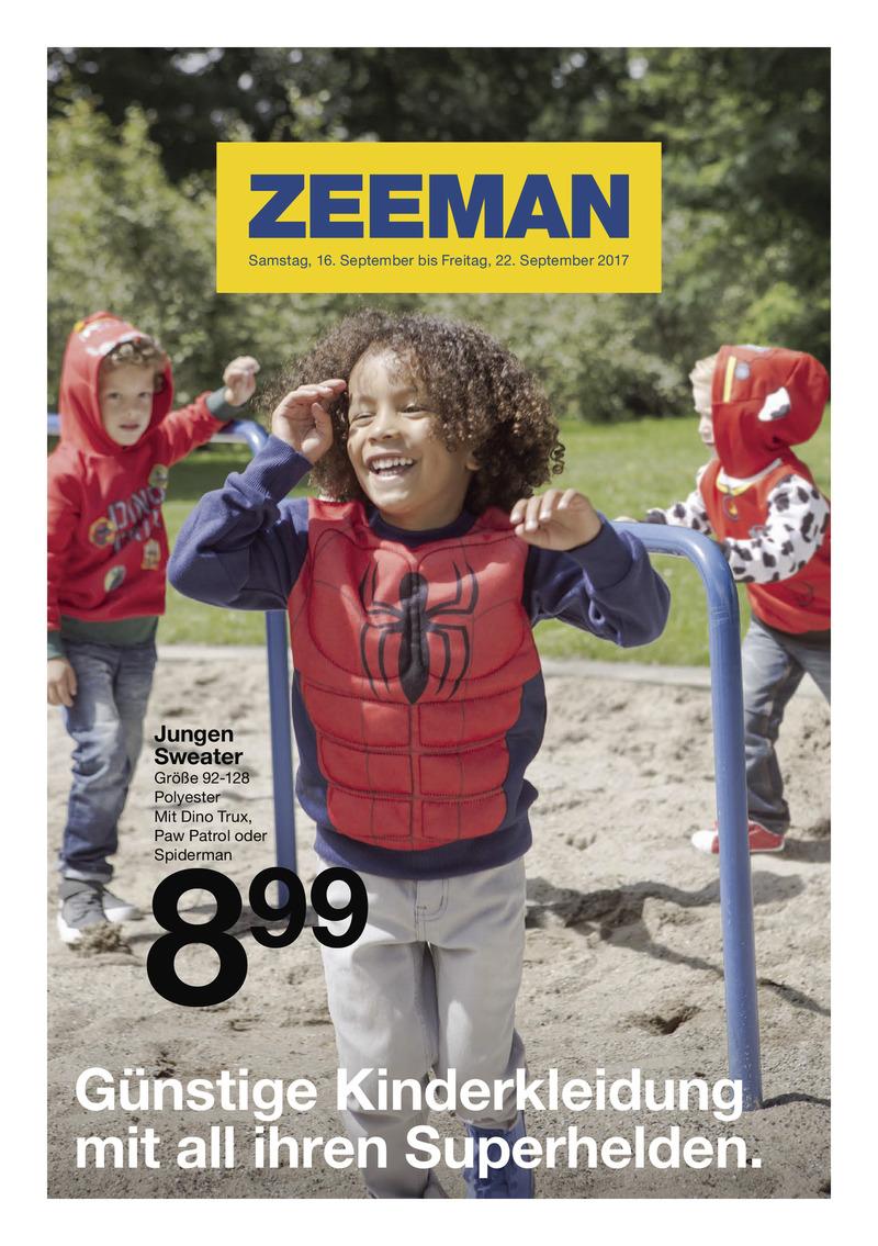 Zeeman Prospekt vom 16.09.2017, Seite