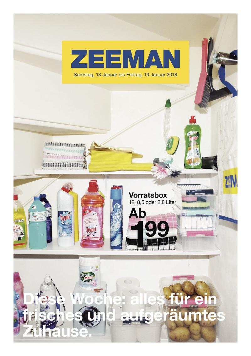 Zeeman Prospekt vom 13.01.2018, Seite