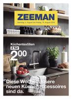 Zeeman Prospekt vom 04.08.2018