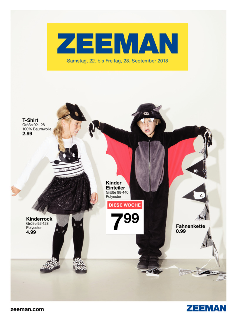 Zeeman Prospekt vom 22.09.2018