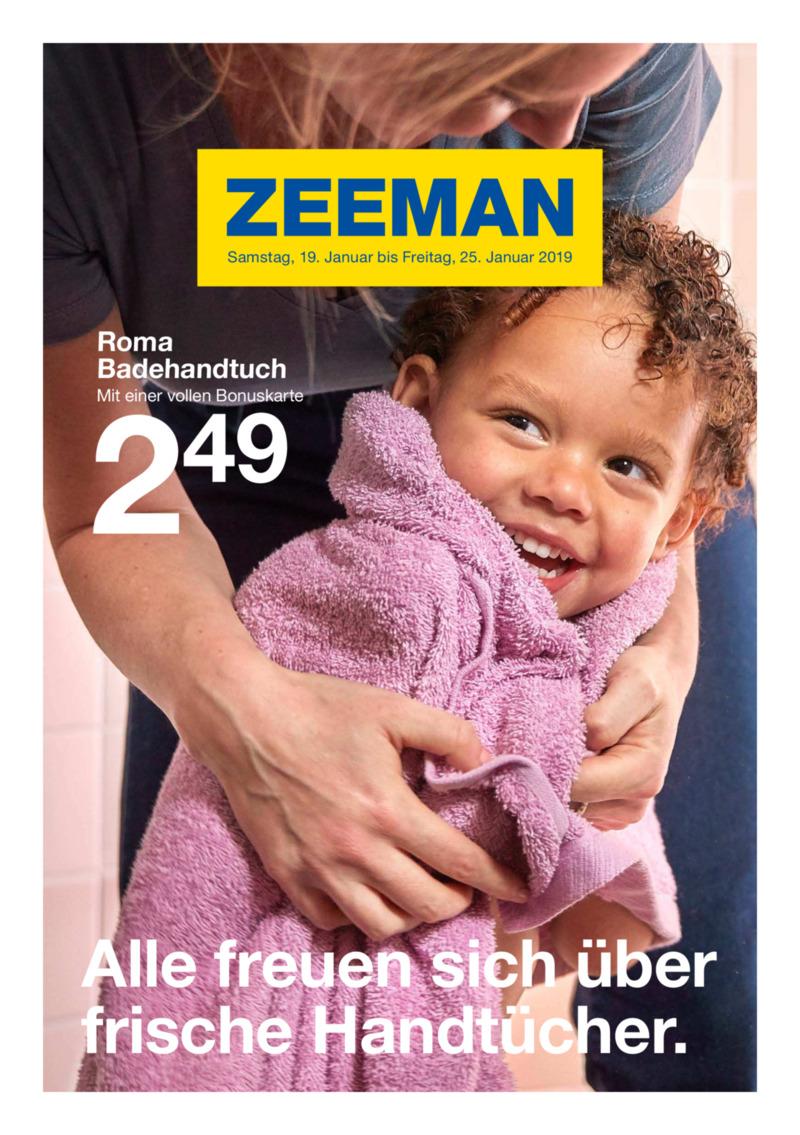 Zeeman Prospekt vom 19.01.2019, Seite