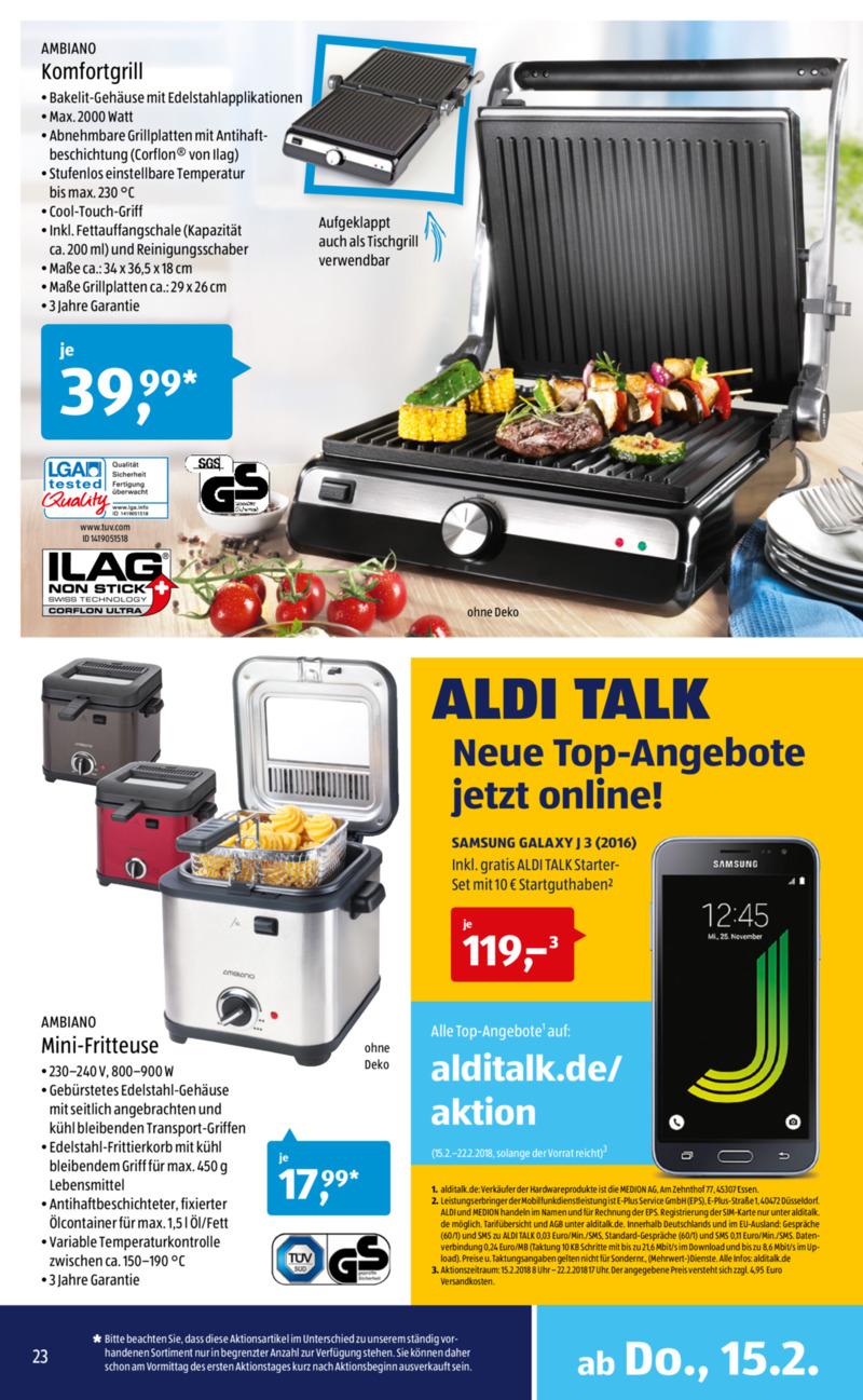 Aldi Süd Prospekt vom 12.02.2018, Seite 22