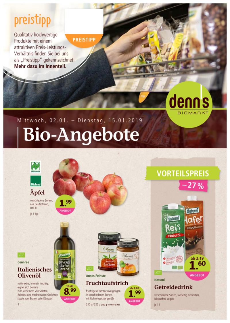 denn's Biomarkt Prospekt vom 02.01.2019, Seite