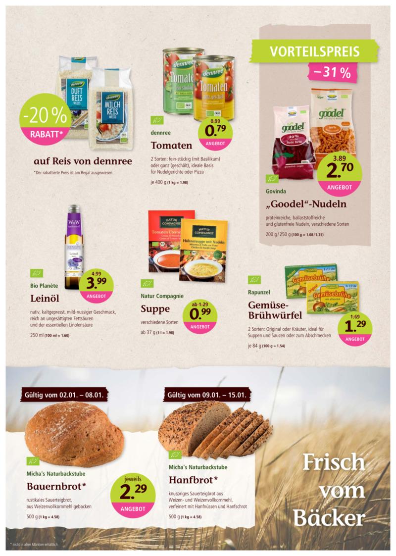 denn's Biomarkt Prospekt vom 02.01.2019, Seite 8