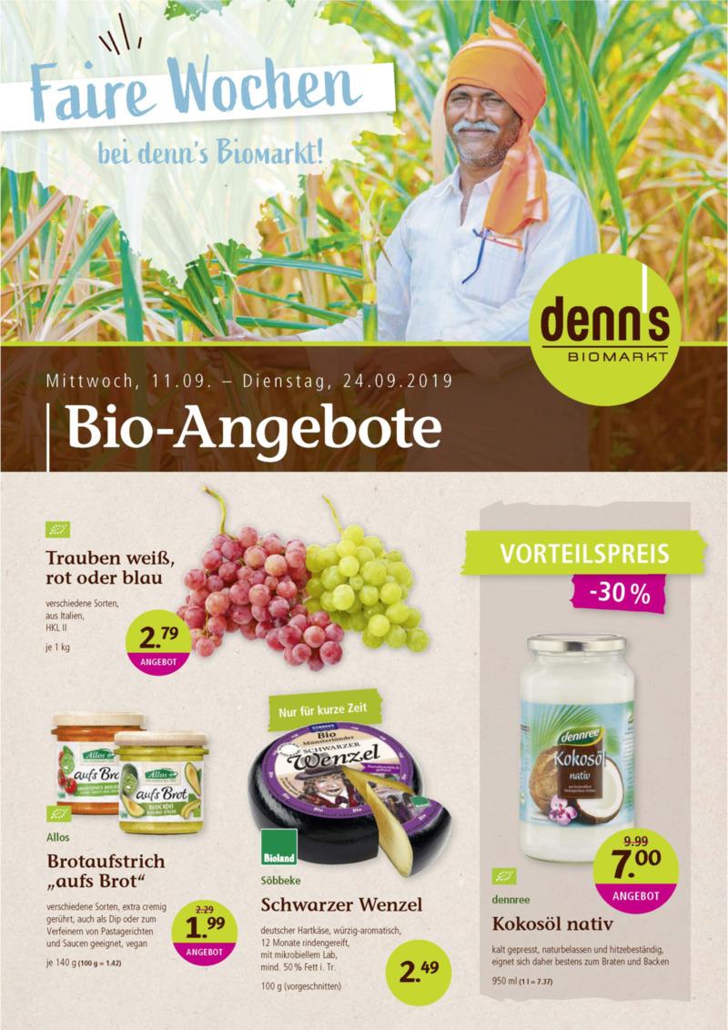 denn's Biomarkt Prospekt vom 11.09.2019, Seite