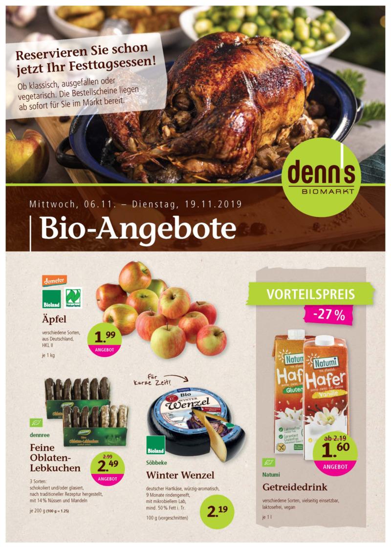 denn's Biomarkt Prospekt vom 06.11.2019, Seite