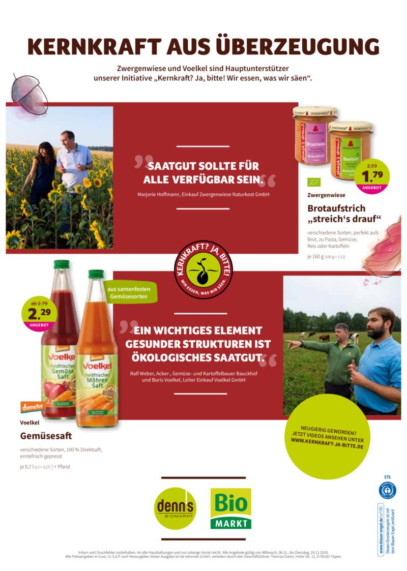 denn's Biomarkt Prospekt vom 06.11.2019, Seite 19