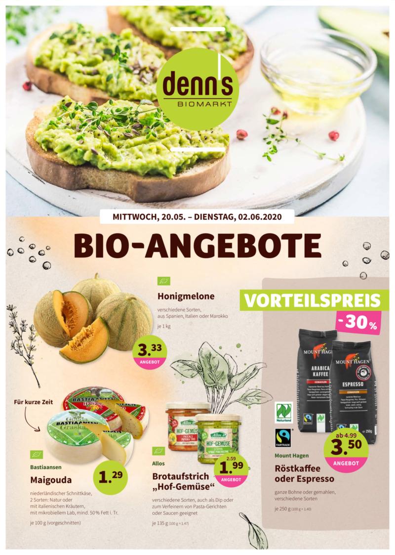 denn's Biomarkt Prospekt vom 20.05.2020, Seite