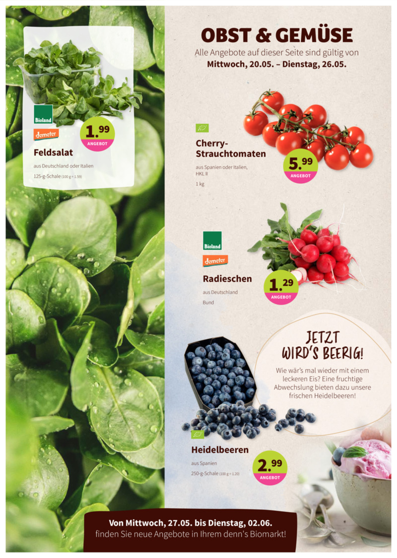 denn's Biomarkt Prospekt vom 20.05.2020, Seite 1
