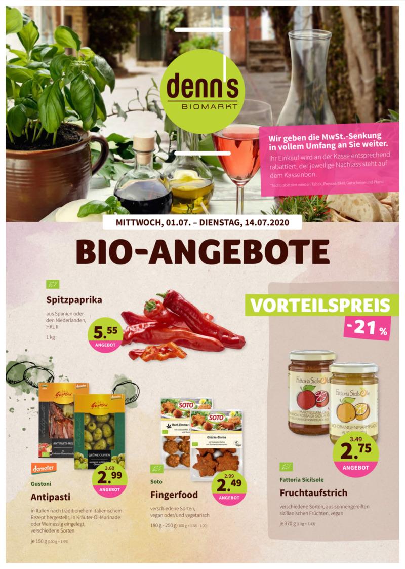 denn's Biomarkt Prospekt vom 01.07.2020, Seite